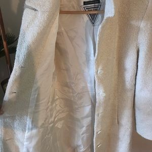 Marvin Richards Jackets & Coats - Marvin Richards Vintage White Wooly Long Coat M